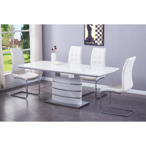 Grey Butterfly Extending Dining Table