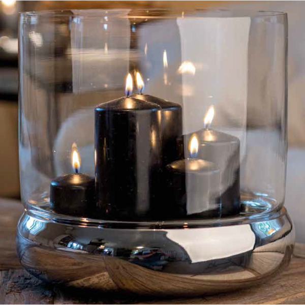 Small Double Wall Steel Candle Holder