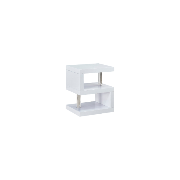 White Maze Side Table