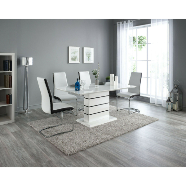 Gio White Dining Table