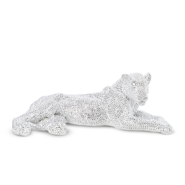 Small Silver Bejeweled Lion