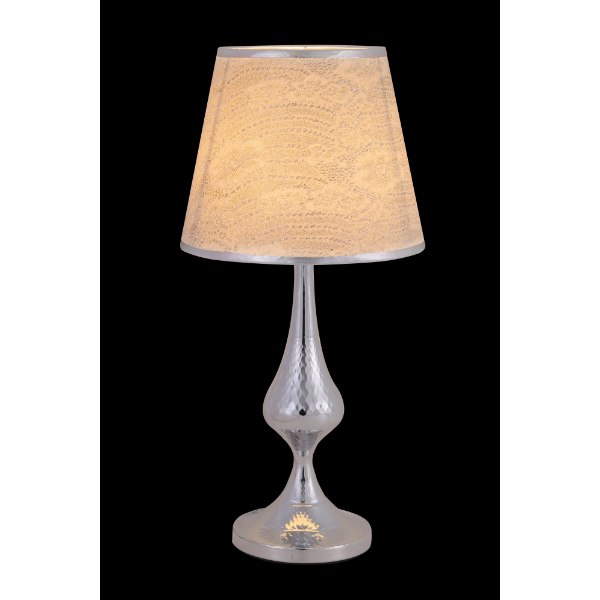 Silver Hourglass Table Lamp