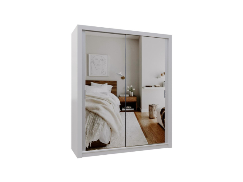 Burket White 180cm Sliding Door Wardrobe